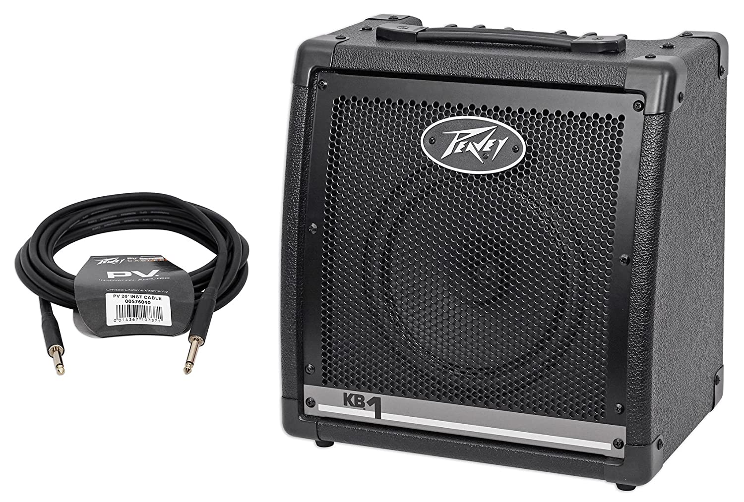 "Peavey KB 1 20 Watt Keyboard Amplifier 2-Channel Combo Amp w/8"" Speaker + Cable KB 1+PV 20 INSTRUMENT CABLE"
