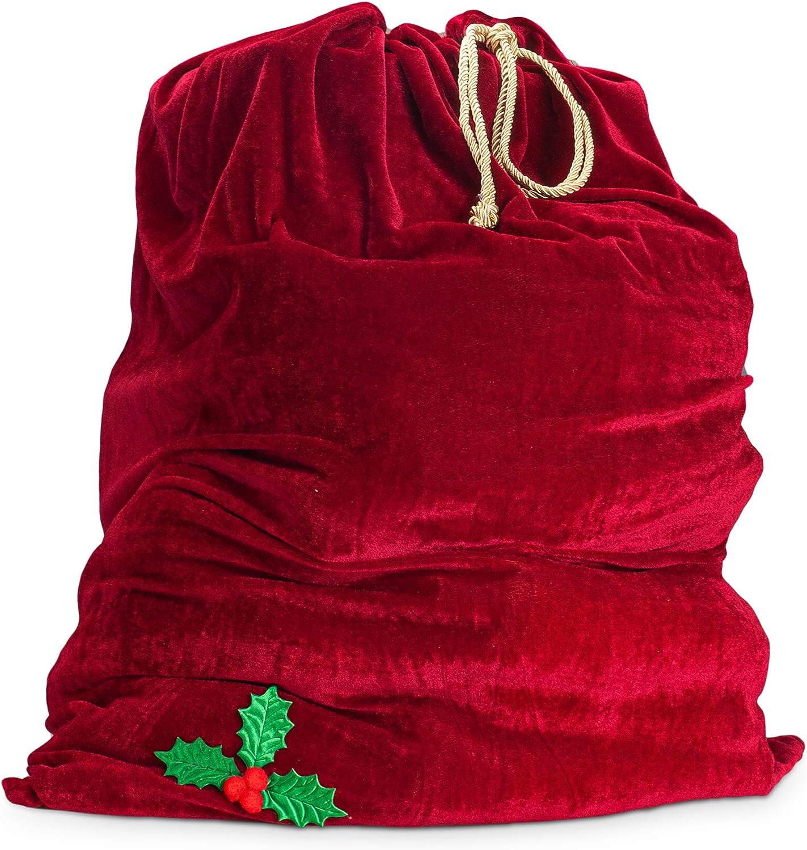 Sunnywood Men's Santa Green Drawstring Gift Bag