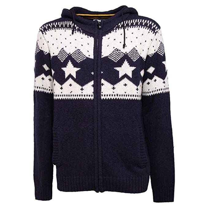 6498K Cardigan uomo U.S. POLO ASSN. Blue/White Full Zip Sweater ...