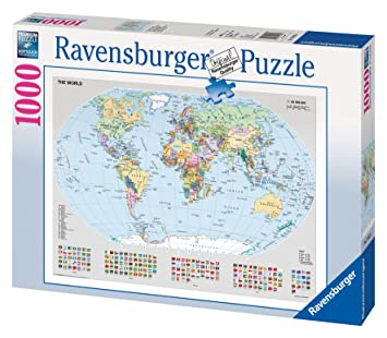 Ravensburger puzzle political world map 1000 pieces amazon ravensburger puzzle political world map 1000 pieces gumiabroncs Image collections