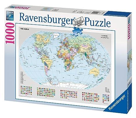 Amazon ravensburger 15652 political world map 1000 piece ravensburger 15652 political world map 1000 piece puzzle puzzle gumiabroncs Image collections