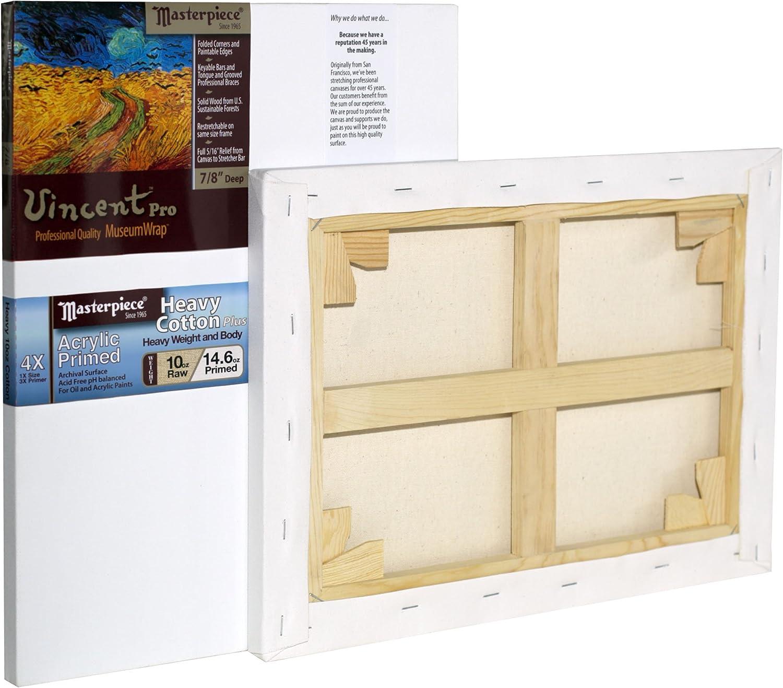 4X 30 x 36 Masterpiece Artist Canvas 42263 Vincent PRO 7//8 Deep Muir Acrylic Primed Linen/12.0oz