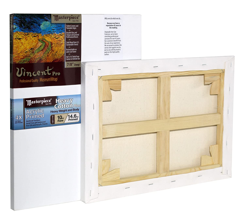 Masterpiece Artist Canvas 41567 Vincent PRO 7//8 Deep Cotton 14.6oz 4X 36 x 36 Tahoe Heavy Weight