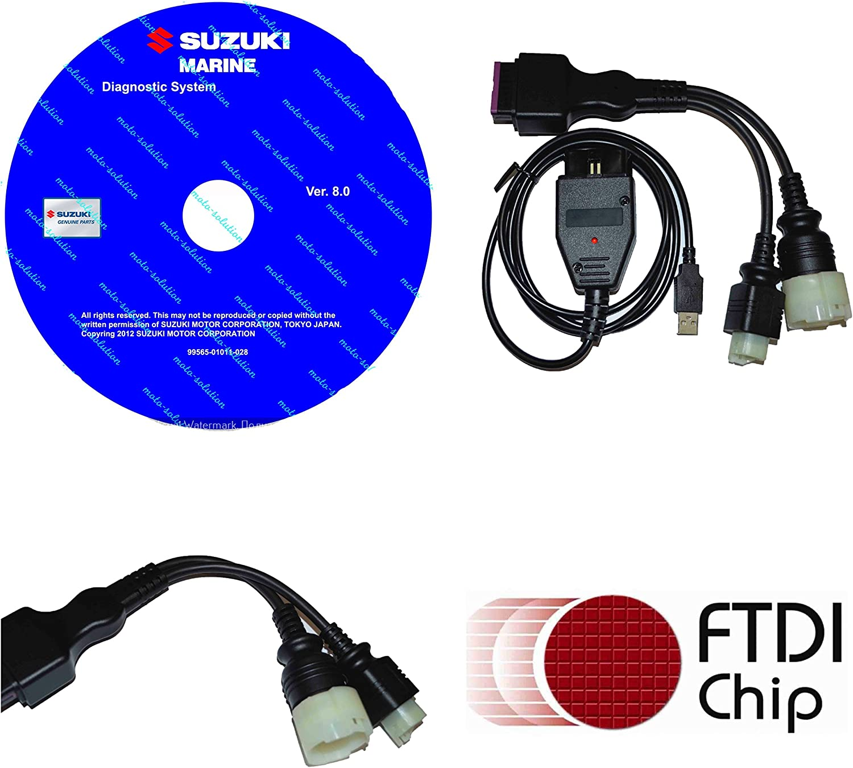 SUZUKI MARINE Professional Outboard Diagnostic CABLE KIT Free Shipping