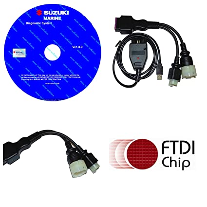 moto-solution Diagnostic USB Cable Kit for Suzuki SDS 8 30 Outboard Boat  Marine