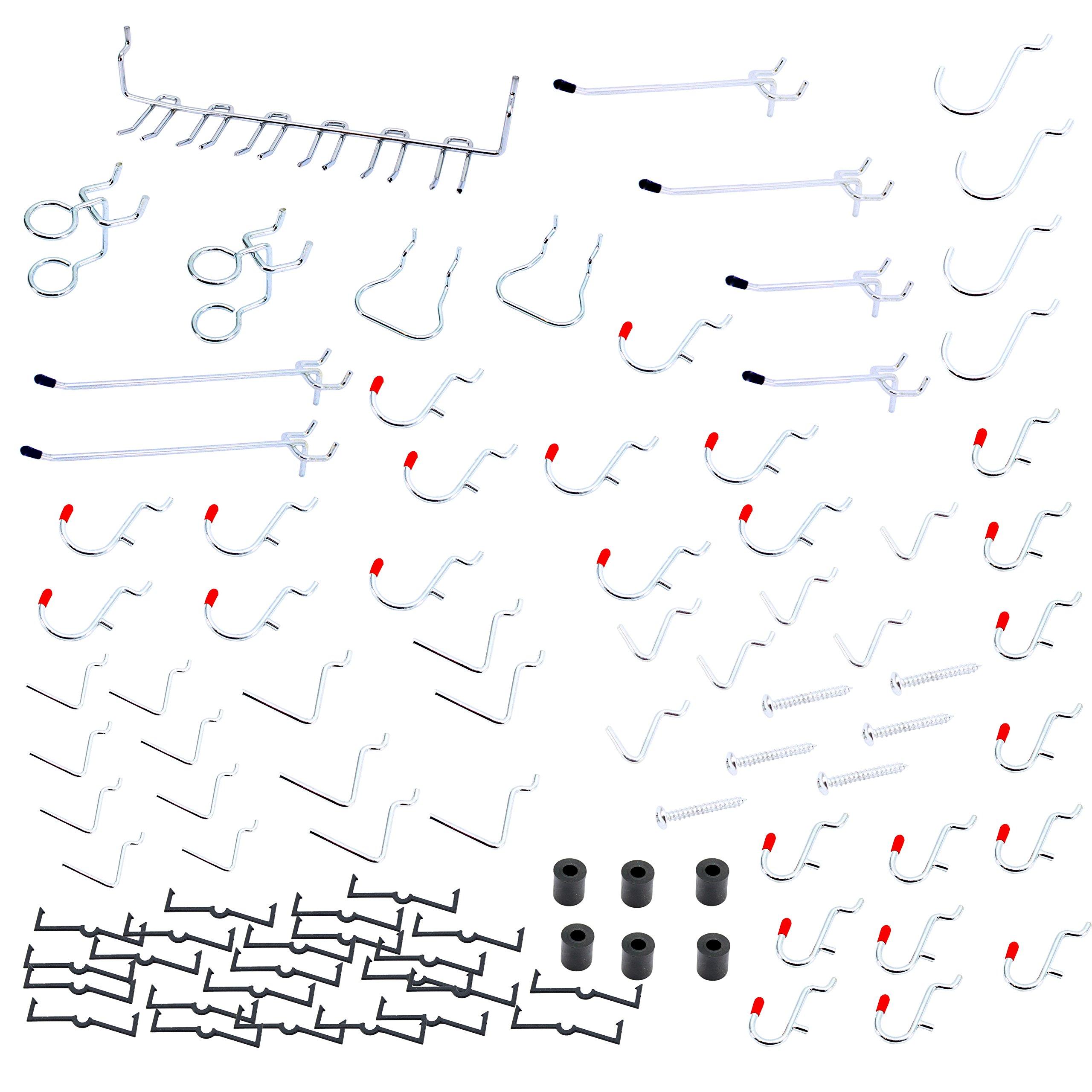 Pegboard Hooks Variety Set, Peg Hooks Variety Assortment, Peg Board Hooks Kit
