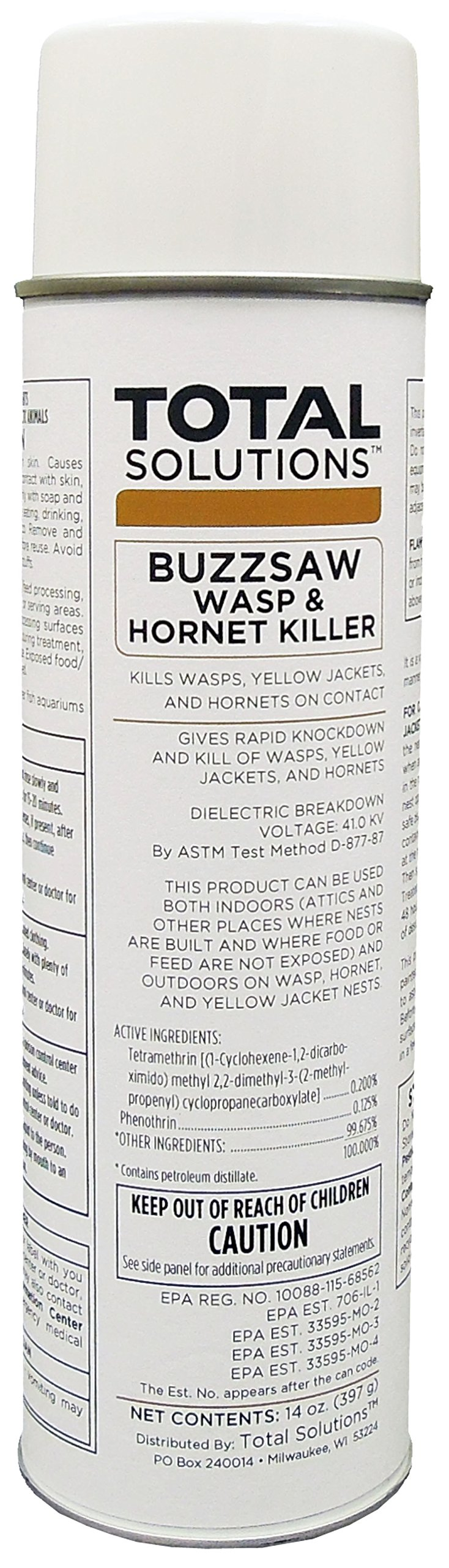 Buzzsaw Wasp & Hornet Killer - Kills stinging insects, 12 Can Case