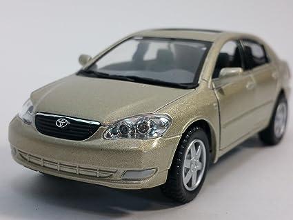 Kinsmart Tan (Beige) Toyota Corolla 2 Door Hardtop 1/36 Scale Diecast Car