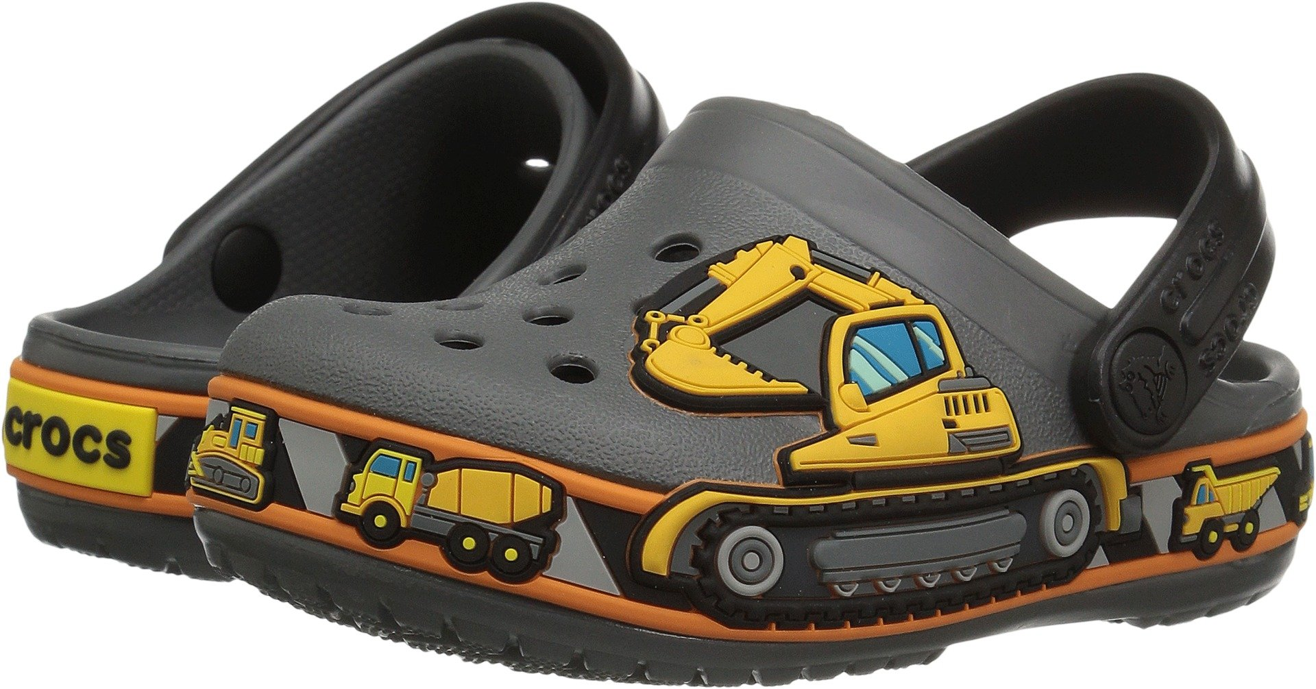 Crocs Crocband  Fun Lab Graphic Light-Up Clog, slate grey, 4 M US Toddler