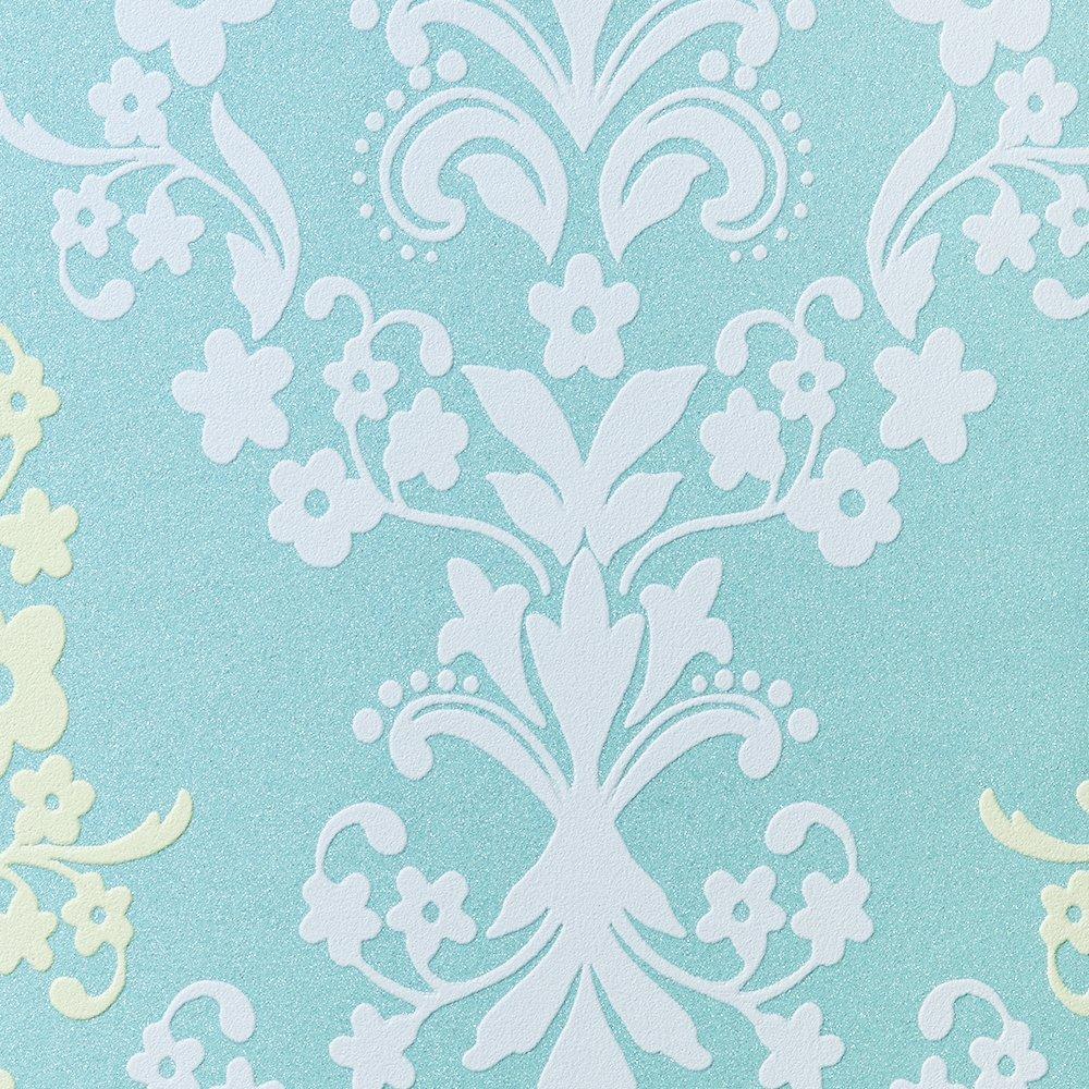 ルノン 壁紙36m フェミニン ダマスク ブルー デザインパターン RH-9416 B01HU4DZRI 36m|ブルー