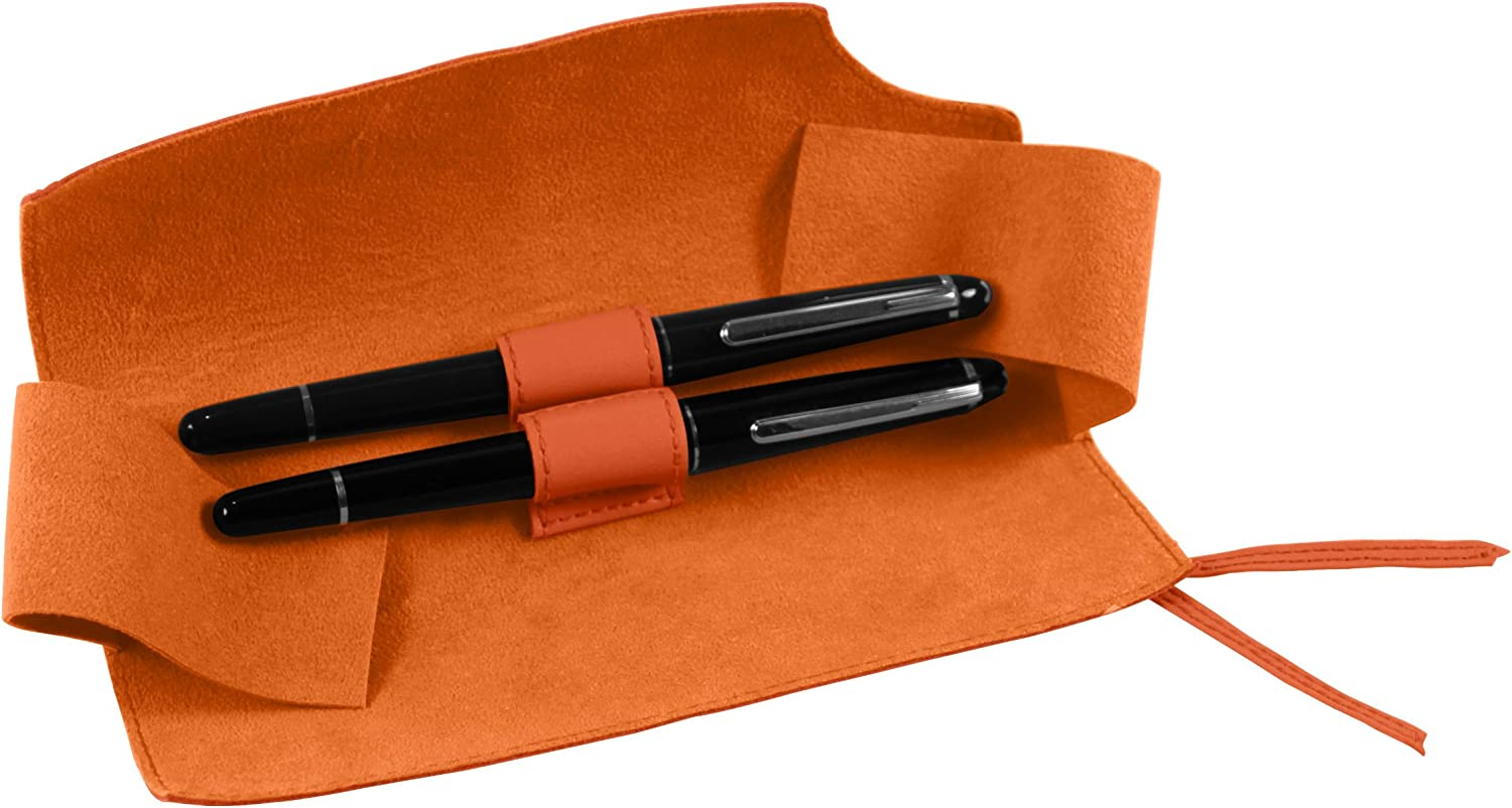 Natural Smooth Leather Knot pen case for 2 pens Lucrin