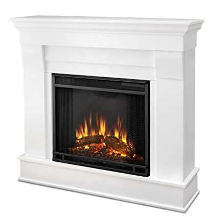 Amazon Com Real Flame Chateau Electric Fireplace In White Small