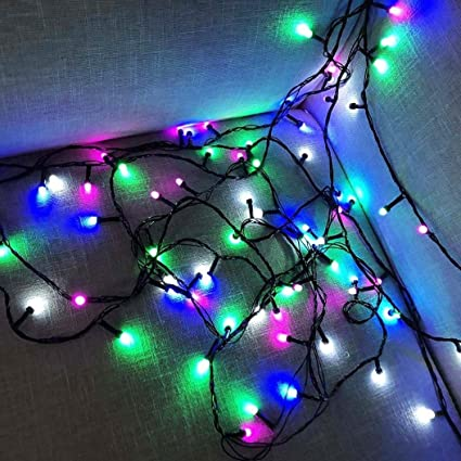 sunshinehomely 100 led beads window curtain copper bulb lights lamp house party decor christmas lights for