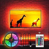 TV Bias Lighting LED TV Backlight Behind 32 40 42 43 Inch HDTV, Custom USB Powered TV Light Strip to Cover 4/4 Sides of…