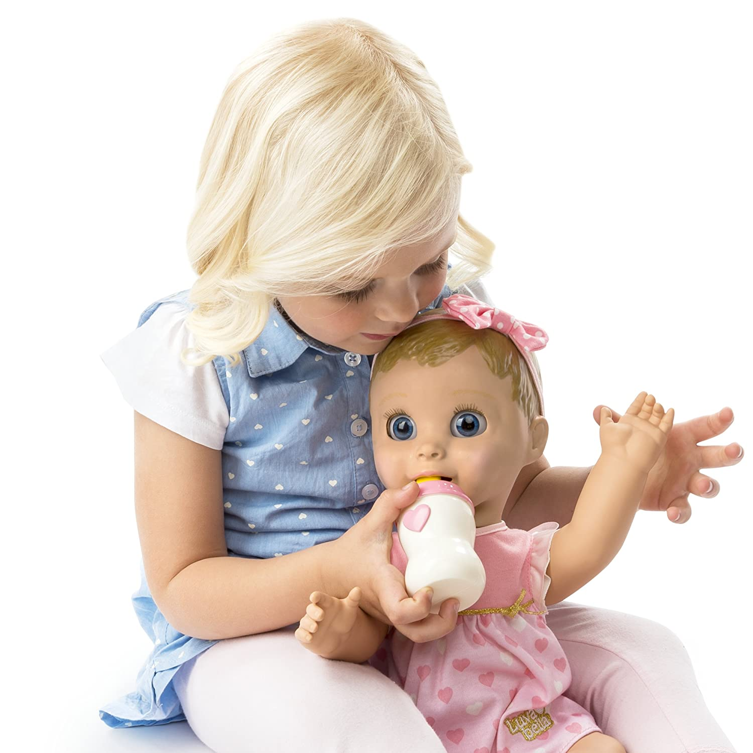 Amazon Com Luvabella Blonde Hair Interactive Baby Doll With