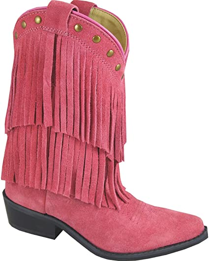 758b529423bf Amazon.com  Smoky Girls Wisteria Double Fringe Tan Western Boot  Shoes
