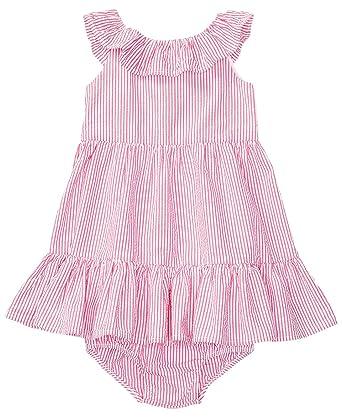 166705f9d Amazon.com  Ralph Lauren Baby Girl Seersucker Dress   Bloomer Set ...