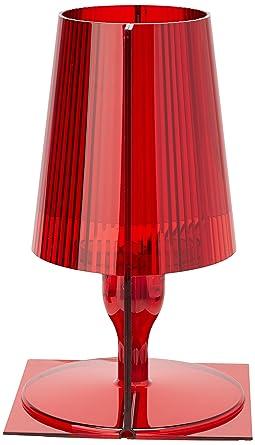 Kartell Take Lampada da Tavolo, Confezione da 1 Pezzo, Rosso: Amazon ...