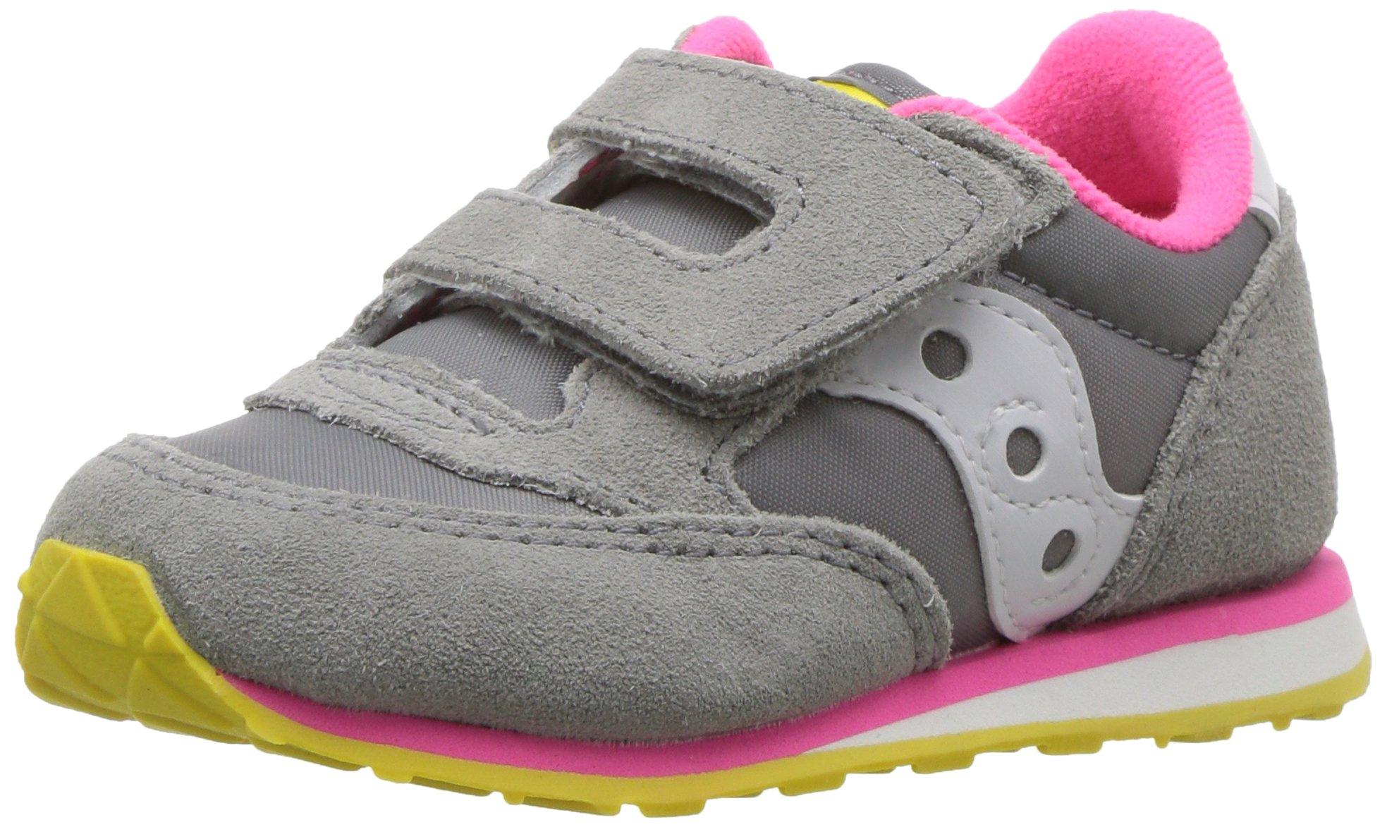 Saucony Baby Jazz Hook & Loop Sneaker Little Kid 7 Grey/Pink