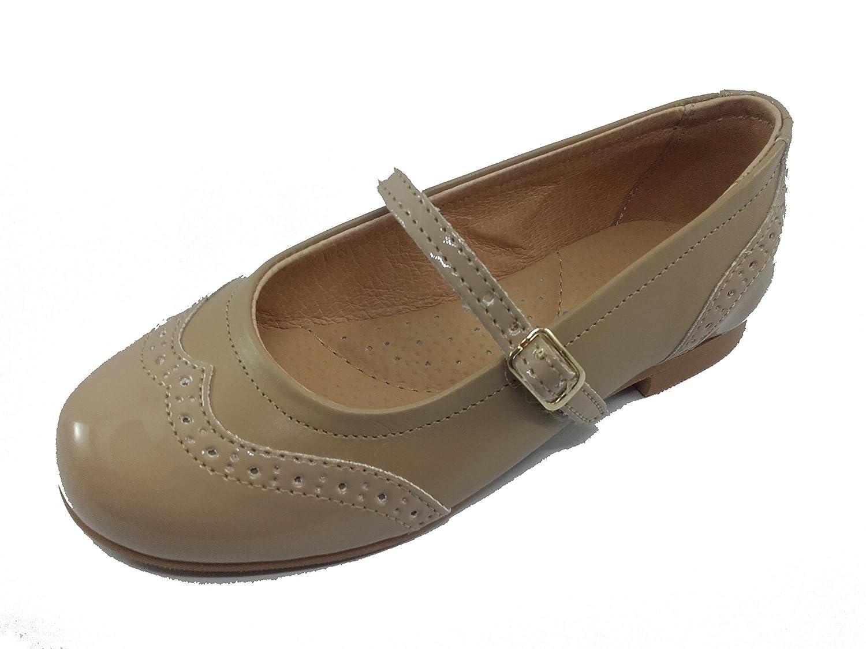 18ed1ab037d Zapatos Merceditas Charol+Napa para Niñas Todo Piel Angelitos mod.1526. Calzado  Infantil Made in ...