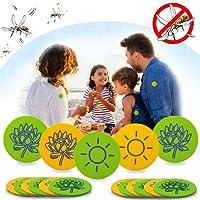 Janolia 32 Stück Mückenschutz-Aufkleber, Natürlich Deet frei Anti-Moskito-Tabletten, Wirksamer Mückenschutz, Ideen für Kinder, schwangere Frauen und The Elder, Durchmesser: 3cm