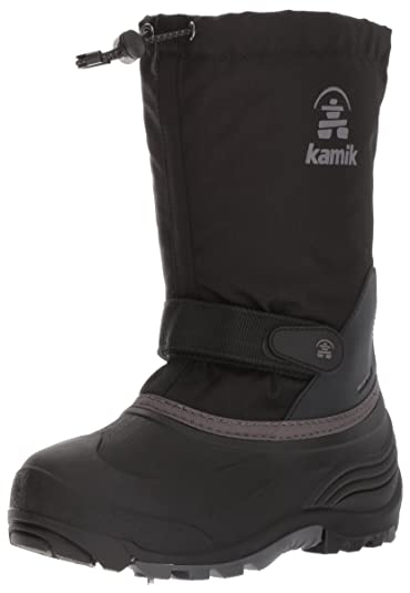 74652d5d5ce8 Kamik Boys  WaterbugWIDE Snow Boot Black Charcoal 8 Wide US Toddler