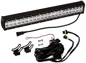 amazon com opt7 c2 series 20 off road cree led light bar and opt7 c2 series 20 quot off road cree led light bar and harness flood