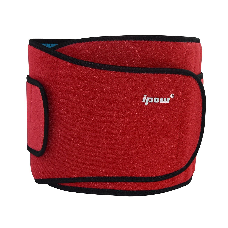 Ipow-Faja de Neopreno Adjustable para la Cintura/Espalda/Lumbar, Cinturón de protección para Hombre...
