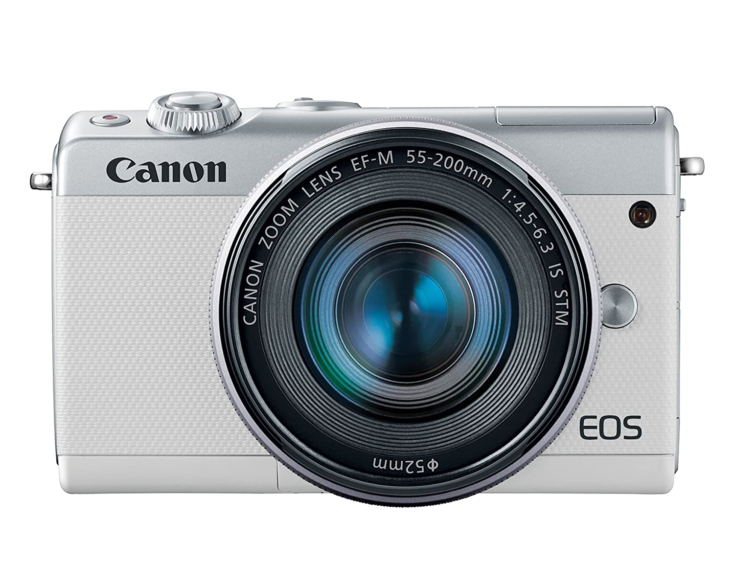 Canon EOS M100 - Digital camera - mirrorless - 24.2 MP - APS-C - 1080p / 60 fps - 3x optical zoom EF-M 15-45mm IS and 55-200mm lenses - Wi-Fi, NFC, Bluetooth - white   B074VNT4VQ