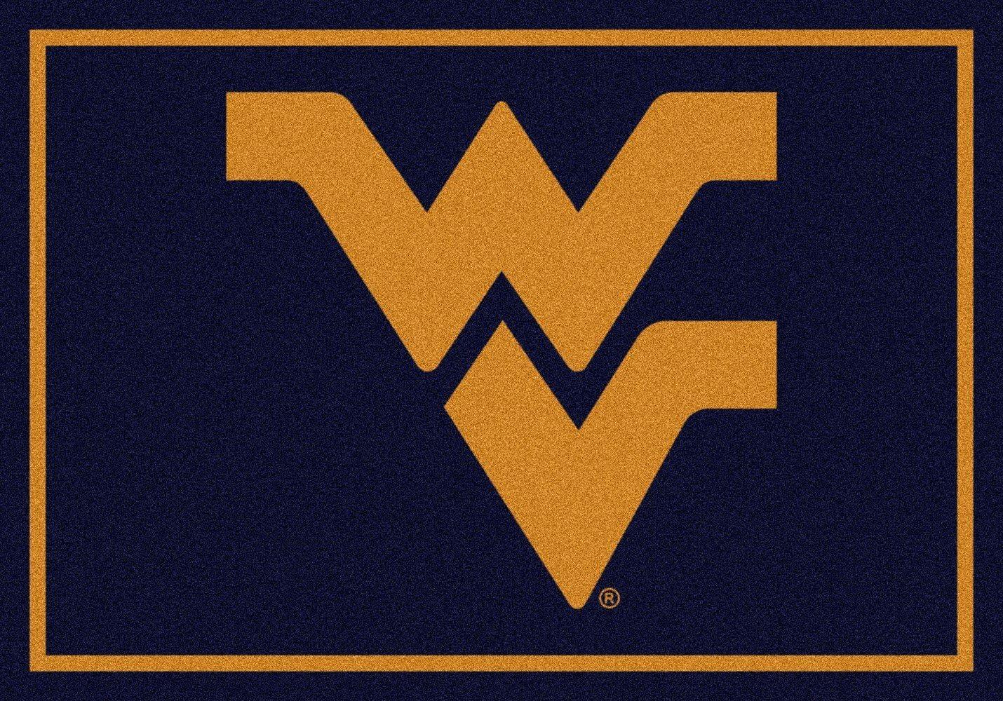 Milliken West Virginia College Team Spirit Area Rug, 5 4 x 7 8