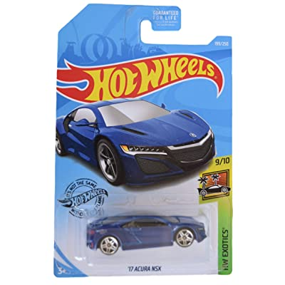 Hot Wheels HW Exotics Series 9/10 '17 Acura NSX 199/250, Blue: Toys & Games