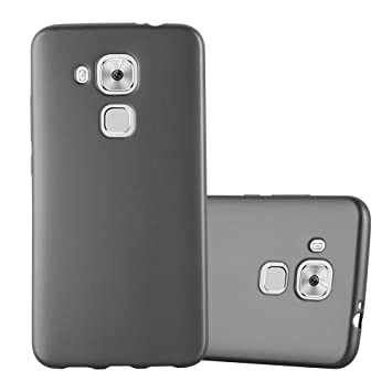 Cadorabo Funda para Huawei Nova Plus en Metallic Gris – Cubierta Proteccíon de Silicona TPU Delgada e Flexible con Antichoque – Gel Case Cover Carcasa ...