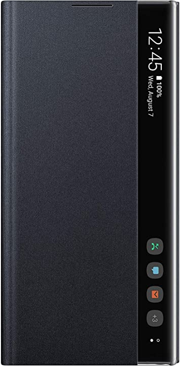 Amazon.com: Samsung Galaxy Note10+ Case, S-View Flip Cover - Black ...