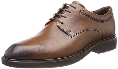 ECCO Men's Vitrus II Plain Toe Tie Oxford, Amber, 39 M EU (5