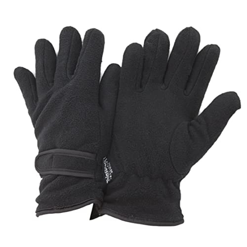 FLOSO- Guantes térmicos con forro polar Thinsulate para mujer (3M 40g) (Talla Única/Negro)