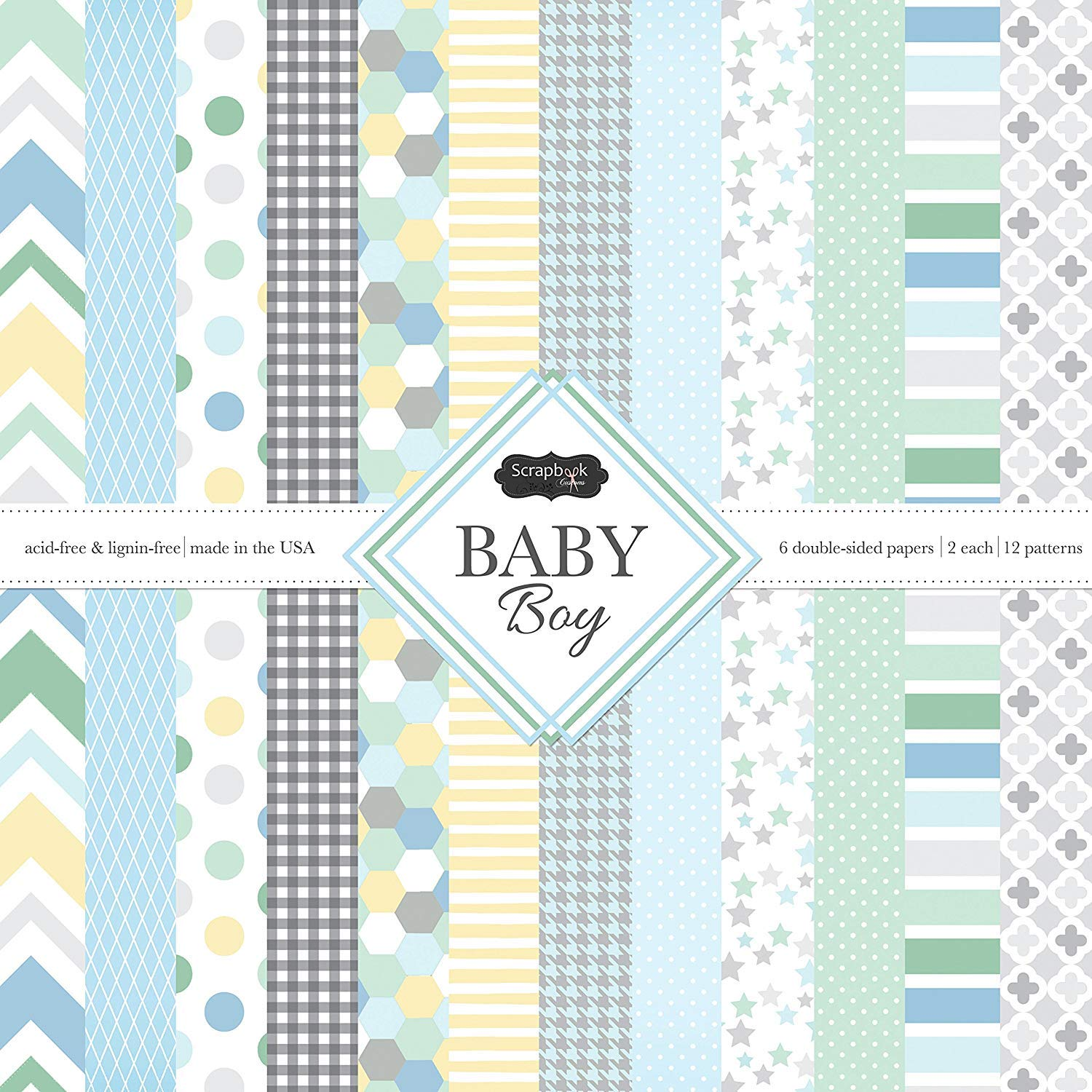 Scrapbook Customs Themed Paper Scrapbook Kit, Baby Boy (3 Pack)