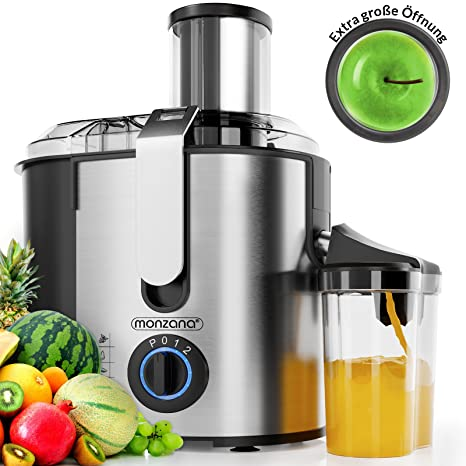 Deuba 101635 - Licuadora para Frutas y Verduras, Exprimidor Extactor de zumo, 1100W,