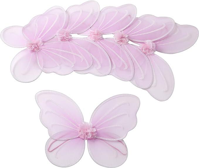 10 colors 6 piece 12\u201dx10\u201d CUTE Infant Child Angel Fairy Butterfly Dress-up Costume Wings