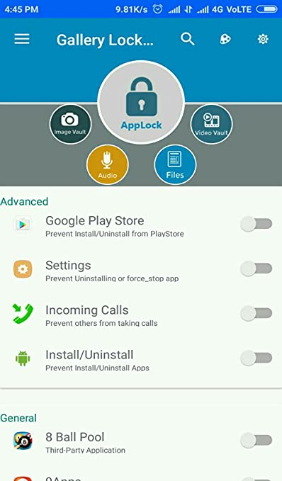 Amazon com: Gallery Lock App Lock: Appstore for Android