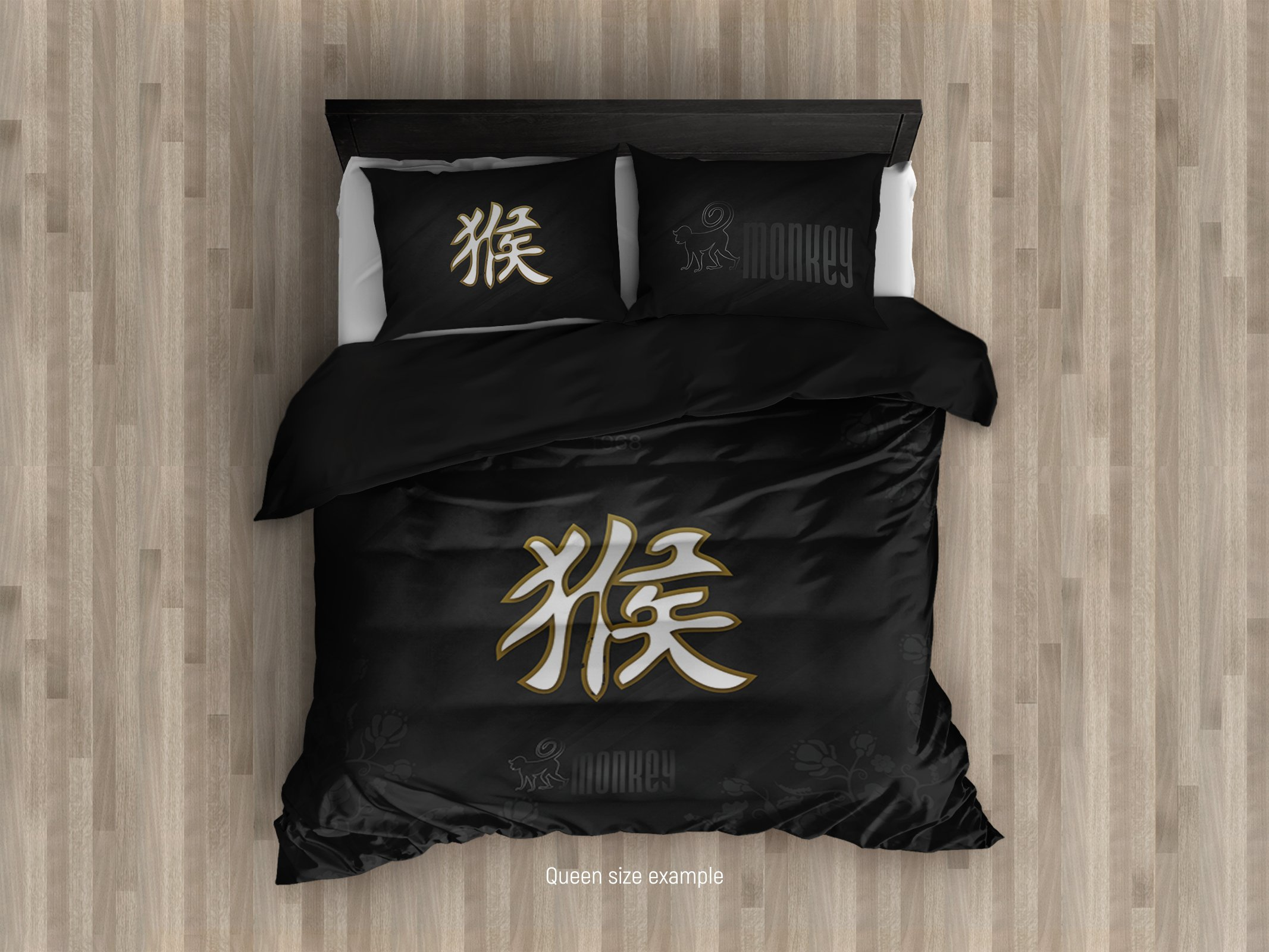 Cool Bedding`s Chinese Zodiac Duvet Cover Set of 3 or 4 Pcs Chinese Hieroglyphs Bedding Set, Modern Bedding, Zodiac Quilt, College Bedding King Queen Twin Single Set (King 104''x92'' $198)