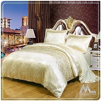 AuBergewohnlich Luxus Style Best Qualität Ever In Satin Jacquard Bettbezug Bettbezug Mit  Bettlaken U0026 2 Kissenrollen,