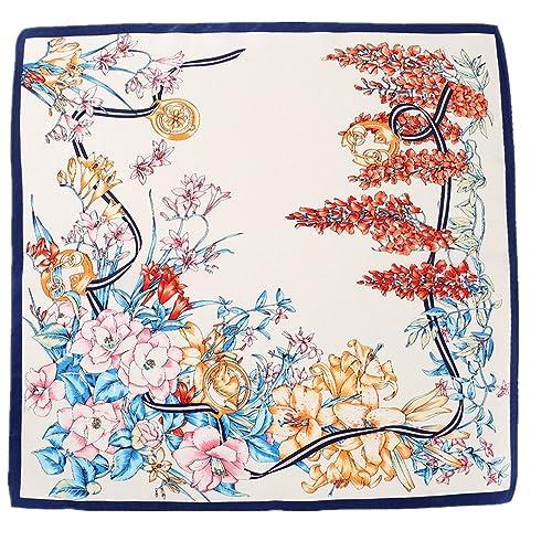 Pañuelo de seda para mujer pañuelo bandana 52x52cm
