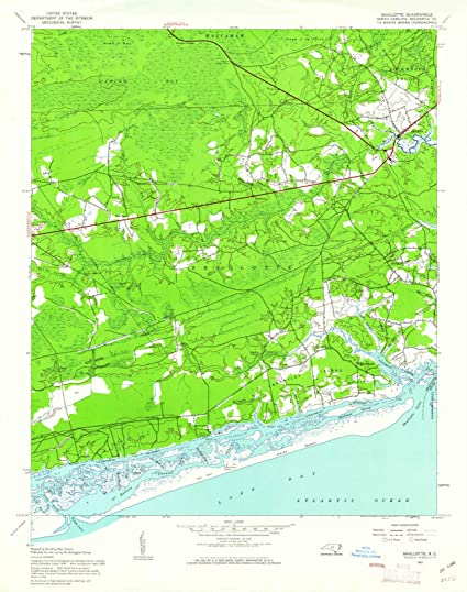 Amazoncom North Carolina Maps 1943 Shallotte Nc Usgs Historical - North-carolina-map-of-us