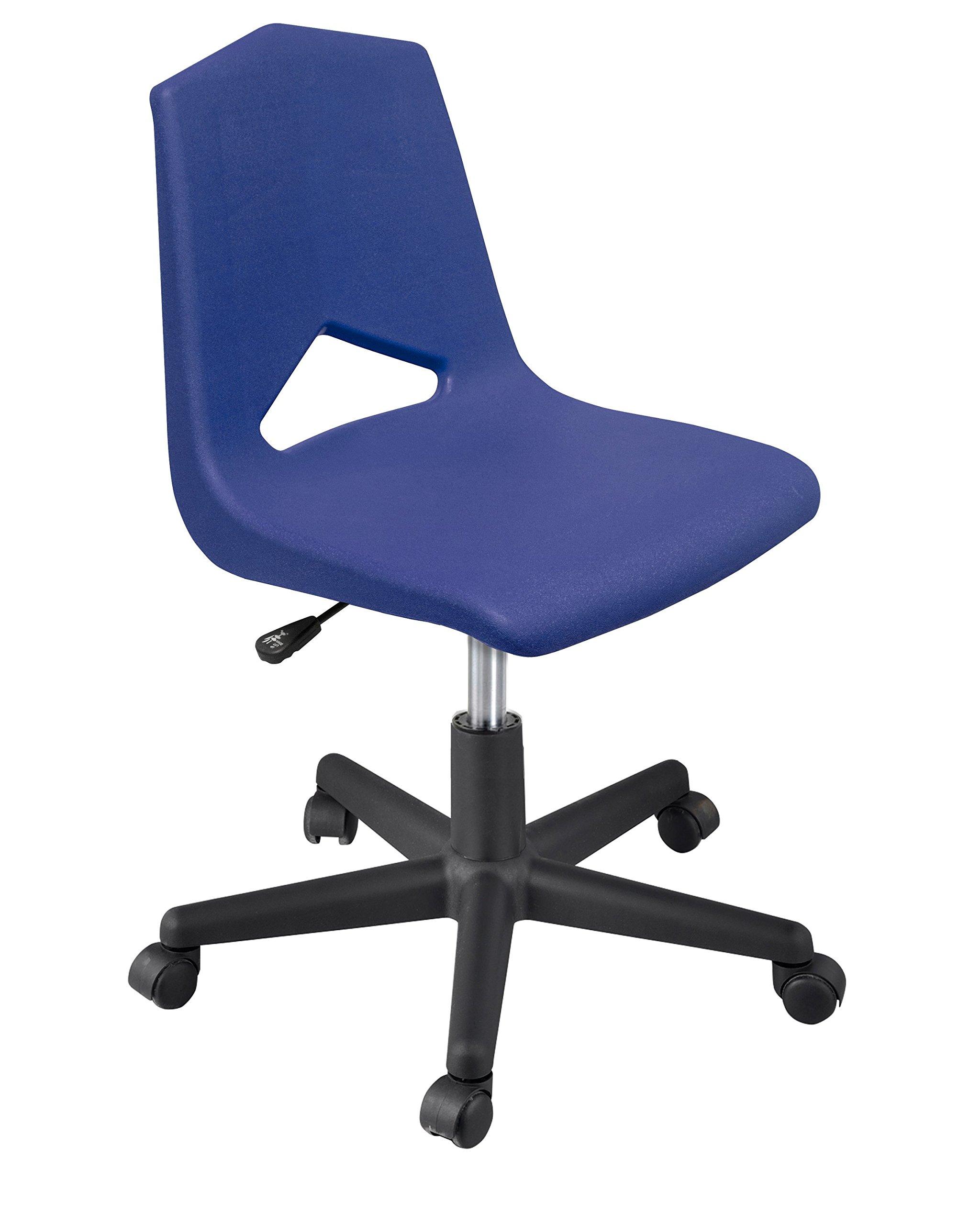 Marco Group MG1182-20BK-ANA Mg Series Adjustable Task Chair, 16''-20'', Navy/Black, 2''