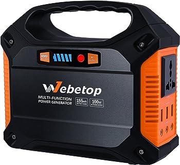 Webetop Portable Generator 42000mAh Power Inverter Battery