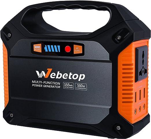 Amazon.com: Webetop Generador portátil Inverter Batería ...