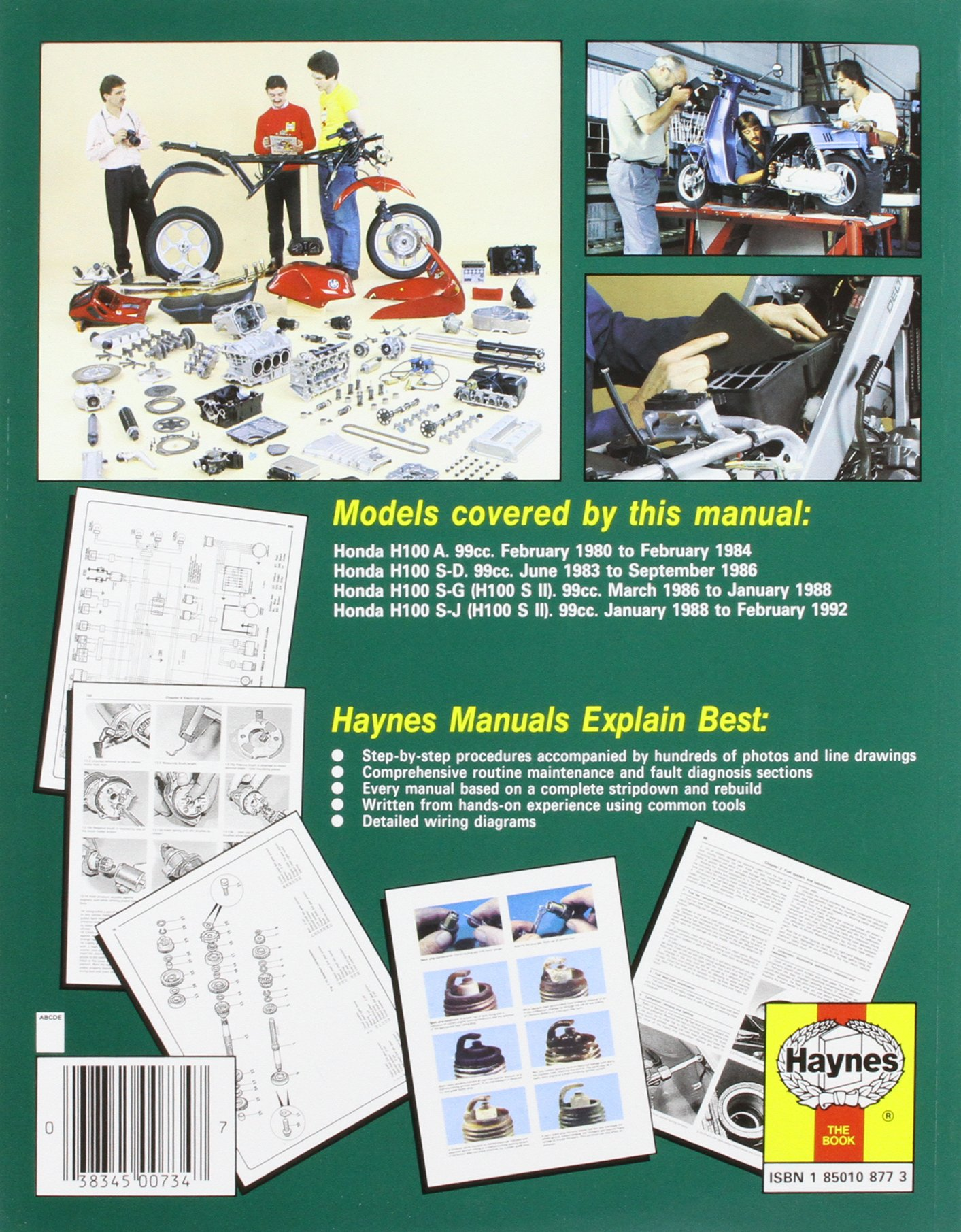Honda H100 Wiring Diagram Hyundai And H100s Singles Owners Workshop Manual Motorcycle