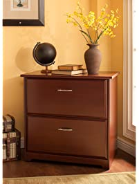 cabot lateral file cabinet in harvest cherry