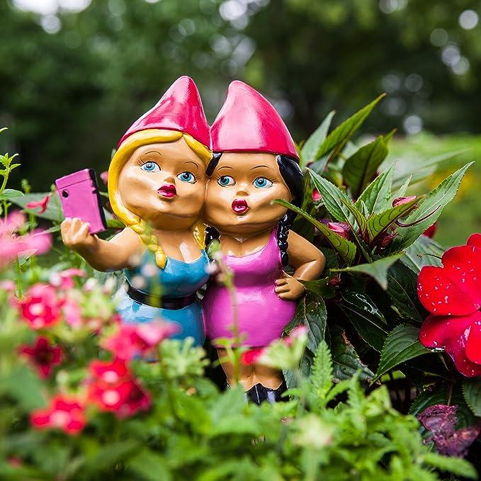 BigMouth Selfie Sisters - Gnomos de jardín: Amazon.es: Juguetes y juegos