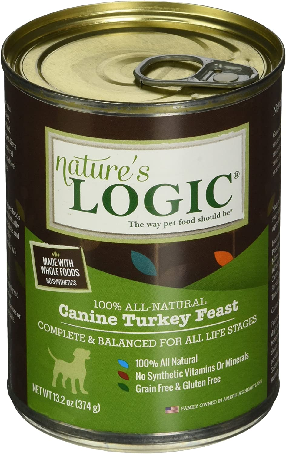 Nature'S Logic Turkey Canned Dog Food (Case Of 12), 12/13.2 Oz/One Size